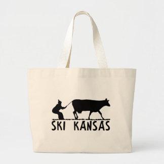 Ski Kansas Large Tote Bag
