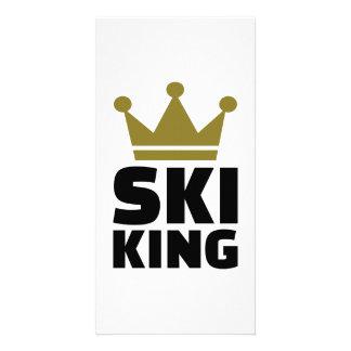 Ski King champion Personalized Photo Card