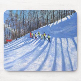 Ski lesson Tignes France Mouse Pad