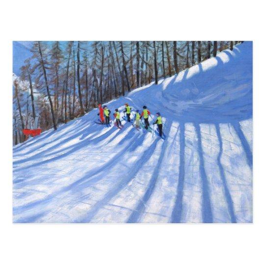 Ski lesson Tignes France Postcard