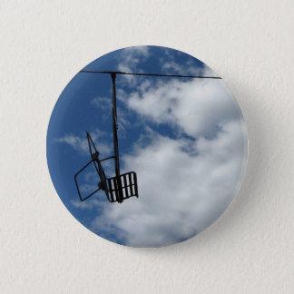 Ski Lift and Sky 6 Cm Round Badge