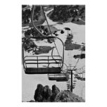 Ski lift chairs at Mammoth Poster