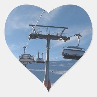 Ski Lift Heart Sticker