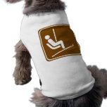 Ski Lift Highway Sign Doggie Tee