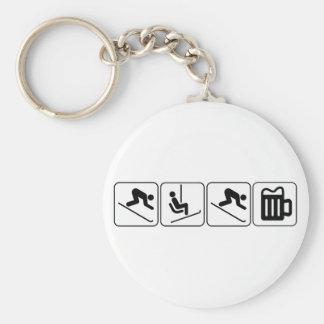 Ski, Lift, Ski, Drink! Key Ring