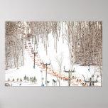 Ski Lift Wall Art Print