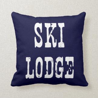 Ski Lodge Navy Cushion