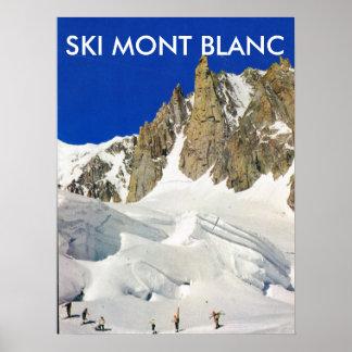 Ski Mont Blanc, France Poster
