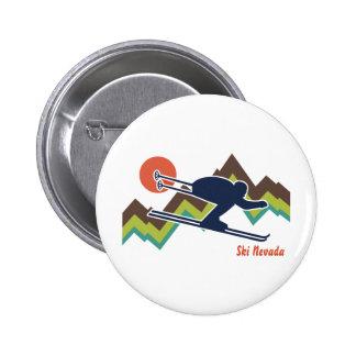 Ski Nevada 6 Cm Round Badge