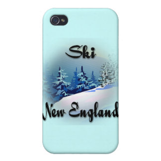 Ski New England  black iPhone 4 Case