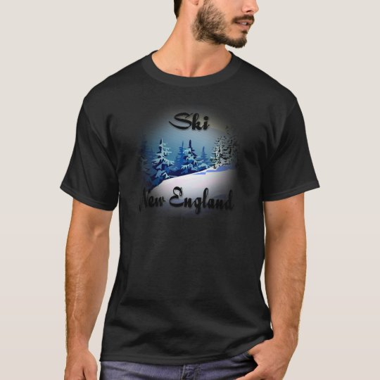 Ski New England  black T-Shirt