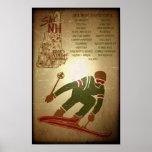 Ski NH Vintage-look Ski Poster