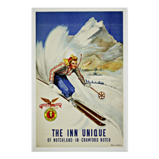 Ski Notchland Crawford  Vintage Travel Poster