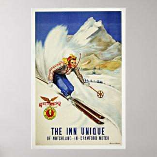 Ski Notchland Crawford  Vintage Travel Poster