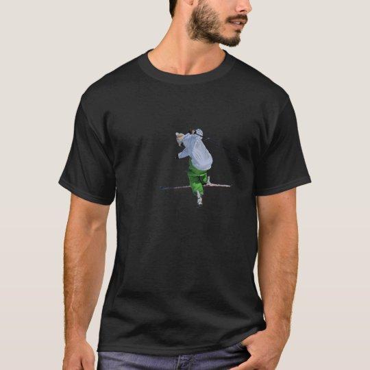 ski on black T-Shirt