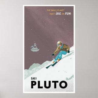 Ski Pluto - Large format Poster