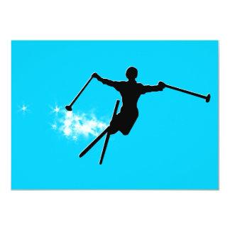 ski : powder trail 11 cm x 16 cm invitation card