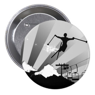ski powder trail 7.5 cm round badge