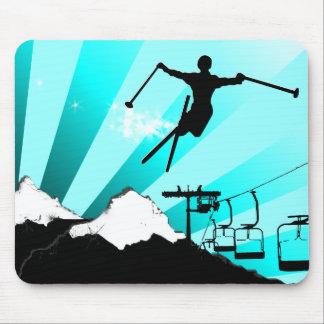 ski powder trail mouse mat