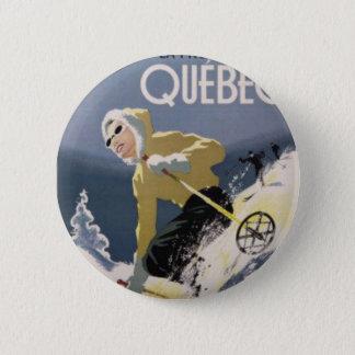 Ski Quebec 6 Cm Round Badge