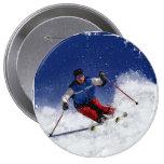 Ski Racing Down the Mountain Button