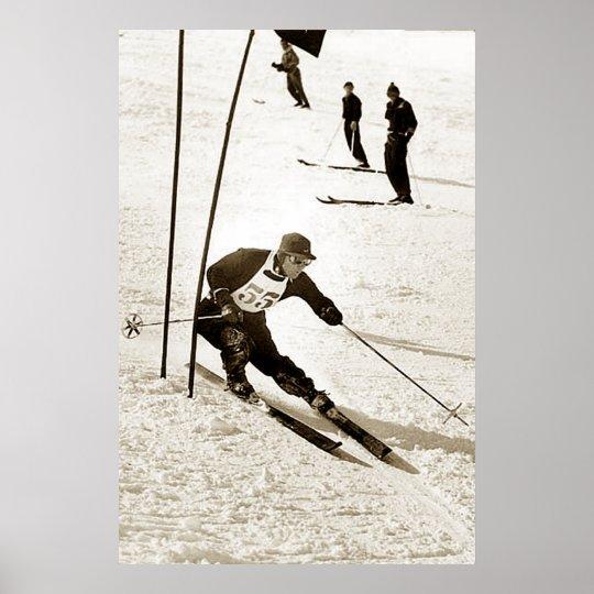 Ski Racing Slalom Skiing Sports downhill Skiing Poster