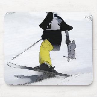 Ski Run Finish Mouse Pad