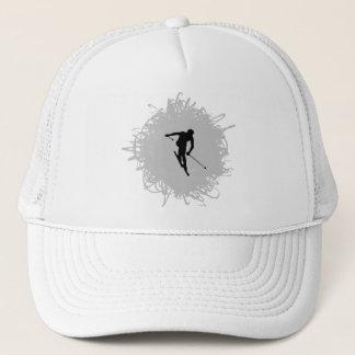 Ski Scribble Style Trucker Hat