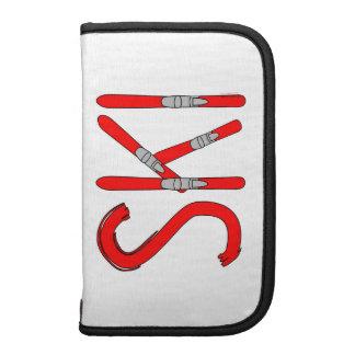 Ski Skis Folio Planners