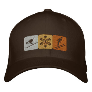Ski snow lovers gear for skiing fanatics embroidered hat