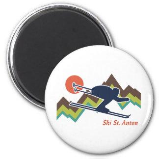 Ski St. Anton Fridge Magnets