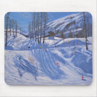 Ski station Tignes 2009 Mouse Mat