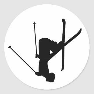 Ski Round Sticker