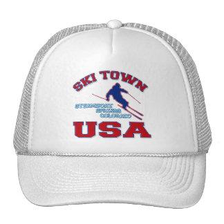 Ski Town USA Steamboat Springs Colorado Hats