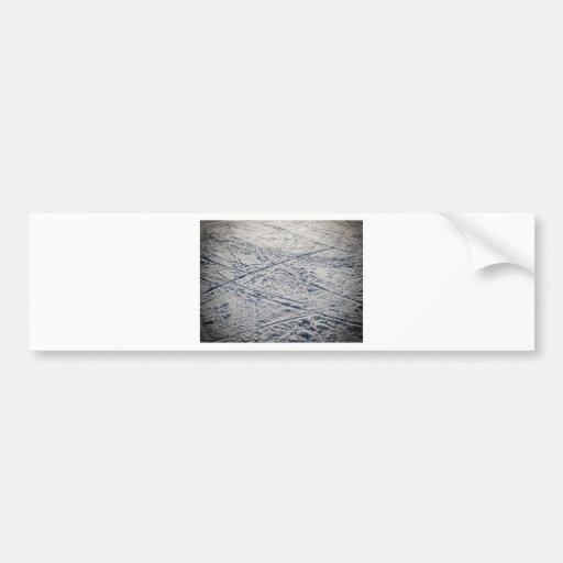 Ski traces bumper sticker