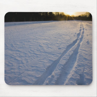 Ski tracks at the Willowbrook Farm Preserve in Mouse Pad