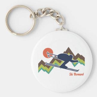 Ski Vermont Key Ring