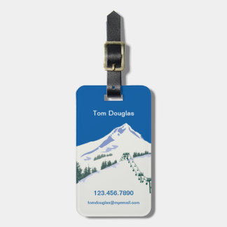 Ski Winter Scene Luggage Tag