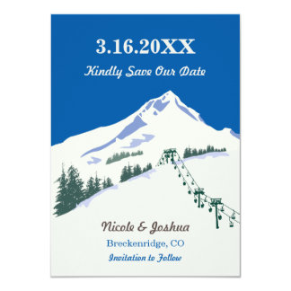 Ski Winter Scene Save the Date Card