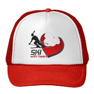 SKI WITH HEART CAP