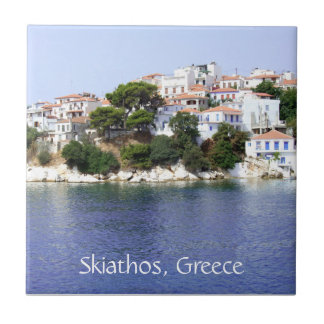 Skiathos Island, Greece Tile