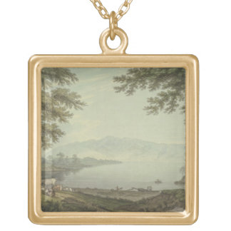 Skiddaw and Derwent Water (pen & ink with w/c over Custom Jewelry