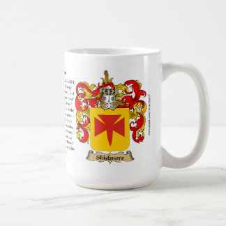 Skidmore, the Origin, the Meaning and the Crest Basic White Mug