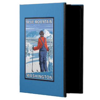 Skier Admiring - Blue Mountain, Washington iPad Air Case