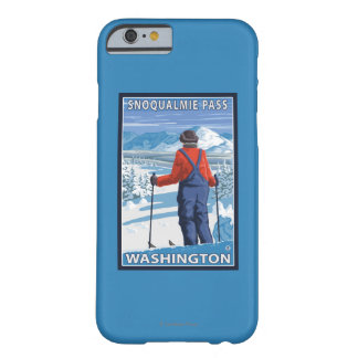 Skier Admiring - Snoqualmie Pass, Washington Barely There iPhone 6 Case