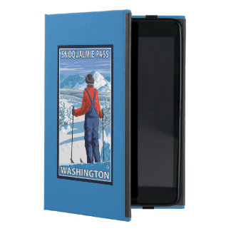Skier Admiring - Snoqualmie Pass, Washington Cover For iPad Mini