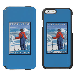 Skier Admiring - Stevens Pass, Washington Incipio Watson™ iPhone 6 Wallet Case