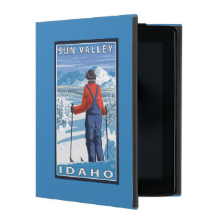 Skier Admiring - Sun Valley, Idaho Cases For iPad