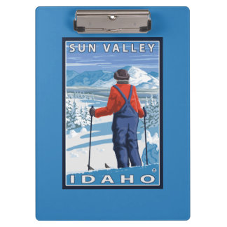 Skier Admiring - Sun Valley, Idaho Clipboard