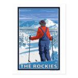 Skier Admiring - The Rockies Postcards